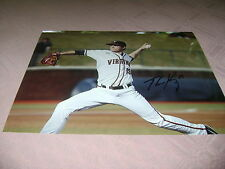 Nathan Kirby Virginia Cavaliers Baseball Signed 8x10 Photo College World Series