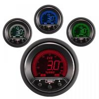 Prosport Evo 52mm LCD 3 Bar Boost Gauge 4 colour with peak and warning