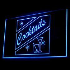 170012 Open Cocktails Blend Celebration Bar Pub Club Display Led Light Sign