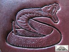 """Discontinued Craftool Co. USA Rattle Snake 1"""" Leather Stamp Tool 8318"""