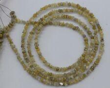 "KPCS Natural Rough Diamond Yellow Raw Uncut Diamonds Bead 2-3mm 16"" Line AAA++ $"
