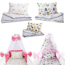 Baby Bettwäsche 7tlg Bettset mit Nestchen Kinderbettwäsche Himmel 100x135cm neu