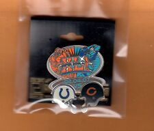 SUPER BOWL XLI SB 41 IND COLTS CHICAGO BEARS Dueling Helmet GAME SITE LAPEL PIN