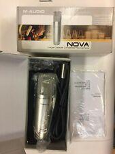 Two M-Audio Nova Large Capsule Condenser Microphones - NIB