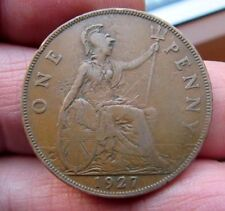 1927 ONE PENNY King George V Th