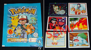 Pokemon Stickers Series 2 By TOPPS 2000 contains 6 stickers per pack