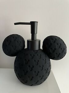 NEW & NEVER USED DISNEY MICKEY MOUSE BLACK PRINT SOAP DISPENSER WITH PUMP