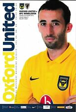 Football Programme>OXFORD UNITED v AFC WIMBLEDON Oct 2012
