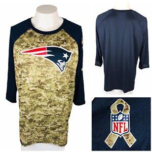 Nike Mens XL Shirt Camo New England Patriots NFL Salute to Service 3/4 Rare NWT