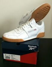 Reebok Workout Plus Classic Leather Mens athletic sneaker white gum Size 10