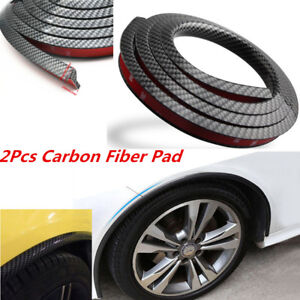 Universal Car Fender Flare Extension Wheel Eyebrow Carbon Fibre Protector Pad