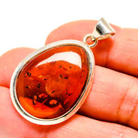 """Baltic Amber 925 Sterling Silver Pendant 1 5/8"""" Ana Co Jewelry P754922F"""
