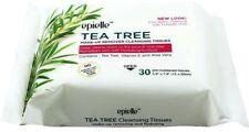 Epielle TEA TREE Make-up Remover Cleansing Tissues Facial Wipes Vit E Aloe Vera
