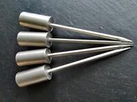 4 Adventskranzstecker 12cm Schwer Silber Kerzenhalter langer Dorn Adventskranz