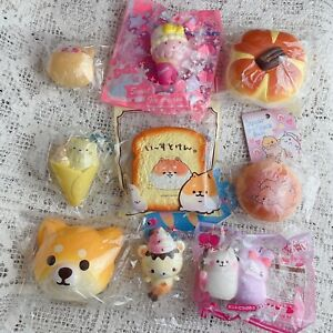 9x Japanese Rement Squishies Squishy Bread Teddy Toast Ice Cream Etc Sweets BNWT