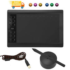 More details for 10x6 inch digital graphics drawing tablet artist board pad w/ 8192 pen pressure