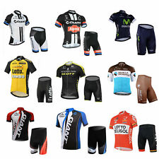 BODIZZZ Cycling Bike short Sleeve Jersey Knick pants Kit set UNIS Green S to 4XL