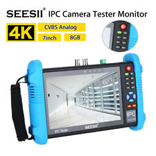 "7"" 4K IPC Camera Tester Monitor CVBS Analog Video Audio PoE Test IP Discovery"
