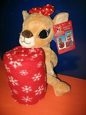 Rudolph The Red Nose Reindeer Fleece Throw With Stuffed Clarice New
