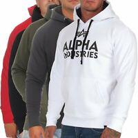 Alpha Industries Herren Hoodie Foam Print 143302 Sweatshirt Pullover Kapuze