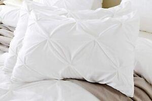 Pinch Pleat 2pc Pillow Shams Pillow Covers 1000TC 100% Organic Cotton