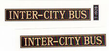 STEELCRAFT INTER CITY BUS DECAL WITH LIC PLATE DECAL