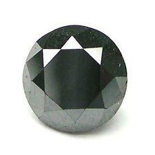 1 carat 6mm CALIBRATED BLACK ROUND POLISHED DIAMONDS