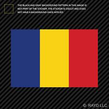 "4"" Romanian Flag Sticker Decal Self Adhesive Vinyl Romania ROU RO"