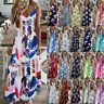 Womens Ladies Sundress Loose Pullover Floral Maxi CAMI Party Long Slip Dress