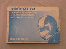 HONDA CB750 CB750F2 1991 OWNERS MANUAL MANUAL DE EXPLICACIONES INSTRUKTIEBOEK