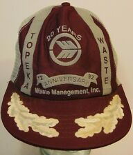 Old Vintage Waste Management Topeka Kansas SNAPBACK TRUCKER HAT CAP MADE IN USA
