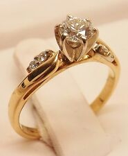 14kt YELLOW GOLD 1/3 cttw SOLITAIRE DIAMOND ENGAGEMENT RING SIZE 5-1/4