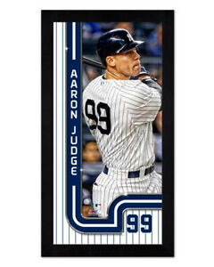 New York Yankees AARON JUDGE Glossy 6x13 Photo with Mini-Frame Print Poster