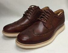 Cole Haan Lunargrand Men's Long Wing Wingtip Sz 7.5 Woodbury Color BNIB