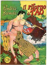 fumetto PANTERA BIONDA ANNO 1954 COLLANA JUNGLA AVVENTUROSA NUMERO 4 DA EDICOLA
