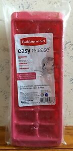 Rubbermaid Easy Release Ice Cube Trays (2) Limited Edition Color RARE FREE SHIP