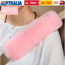 4xSoft Car Safety Seat Belt Shoulder Pad Protective Strap Wrap CushionCover Pink