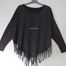 Gepunktete Damen-Shirts mit Rundhals-Ausschnitt