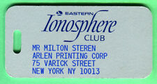 SUPER RARE/MINT! 1970'S/80'S EASTERN AIRLINES IONOSPHERE CLUB LUGGAGE/BAG TAG