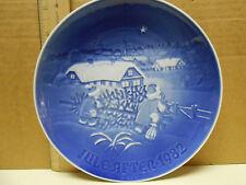 Kongelig Copenhagen Porcelain B&G Christmas Tree Plate Jule After 1982