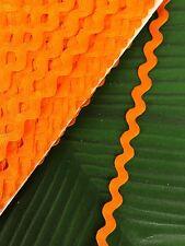 Ric Rac Braid Trim 8mm Orange - By The Meter