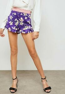 MANGO Floral Print Shorts Size UK XS Rrp £29.99 *Brand New with Tags*