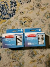 RUBBERMAID FILTER FRESH-Replacement~Water Bottle Refill~2 BOXES-4 Filters~NEW!