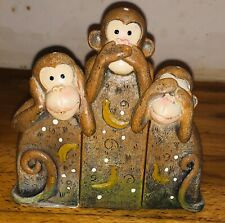 3 Latex moulds for Making This Set Of Interlocking Monkeys