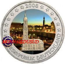 2 Euro Commémorative Allemagne 2008 en Couleur Type A - Eglise Saint Michaelis