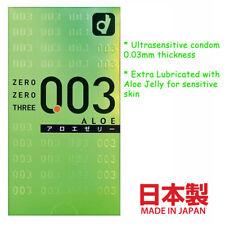 Okamoto Ultrasensitive Thin Condom 0.03 Extra Aloe Lubricant for Sensitive Skin