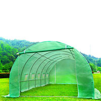 6M X 3M Fully Galvanised Steel Frame Poly Tunnel Greenhouse Pollytunnel Tunnel