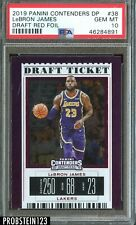 2019 Panini Contenders Draft Ticket Red Foil LeBron James Lakers PSA 10