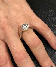2.11Ct Round Cut Moissanite Diamond ring Engagement Ring Hallmark14k Yellow Gold