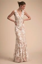 BHLDN Wedding Dress Liesel Gown Lace Beach Nude Ivory Used Pre-Owned Size 4